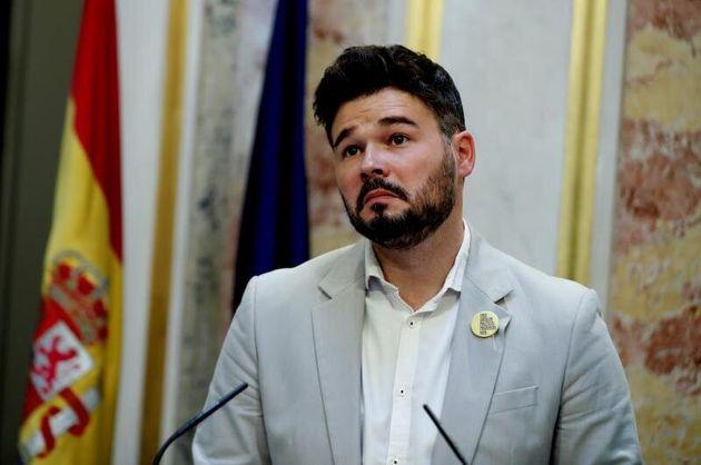 El portavoz de ERC, Gabriel Rufián. EFE/Emilio
