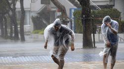 일본, 태풍 '봉퐁'으로 부상 100명