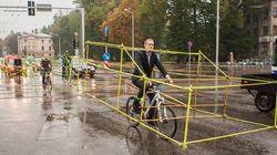 라트비아에 나타난 희한한 자전거 부대(사진,