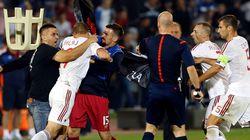 세르비아-알바니아, 축구경기 도중 난투극