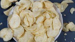 집에서 감자칩을 만드는 가장 쉬운