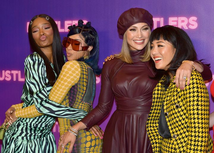 "Jennifer Lopez, Constance Wu play strippers who steal from Wall Street businessmen in ""Hustlers."""