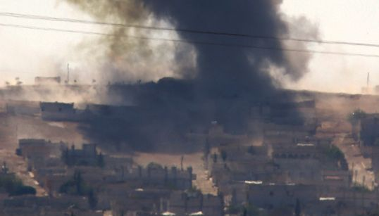 시리아 쿠르드족, 터키 접경지대에서 IS와