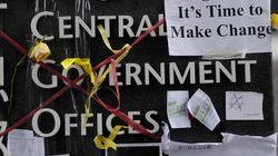 중국인 관광객, 홍콩에서 민주화시위