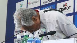 일본 수영선수, 한국 기자 카메라