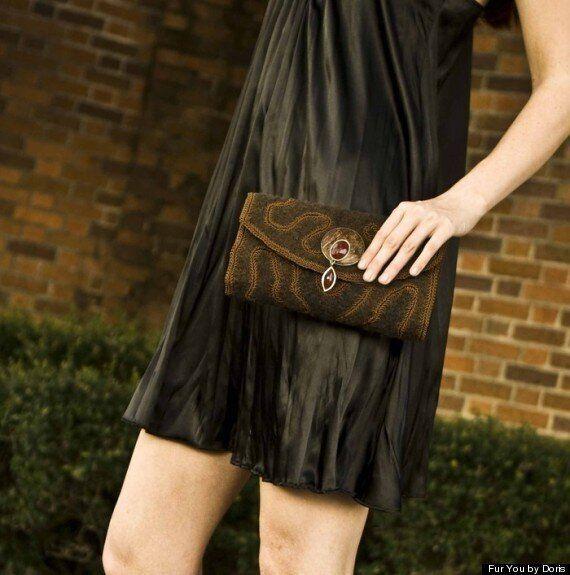개털로 만든 핸드백이 새로운