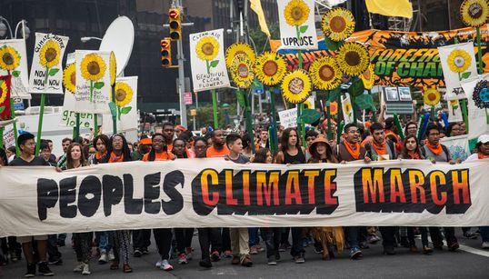 전세계 60만명, 기후변화 대응 촉구 시위