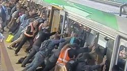 출근길에 사람을 구한 호주의 지하철