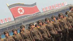 근접촬영 북한군 열병식