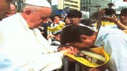 교황, '단식 34일' 유민 아빠 만나