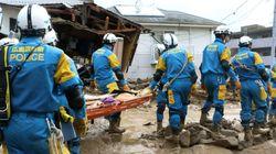 일본 히로시마 산사태로 27명