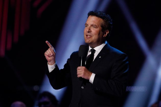 Rick Mercer speaks during the Juno Awards in London, Ont. on March 17,