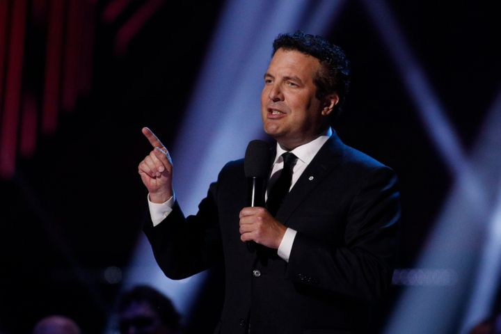 Rick Mercer speaks during the Juno Awards in London, Ont. on March 17, 2019.