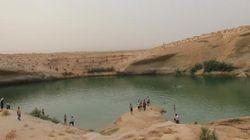 튀니지 사막에 갑자기 호수가 나타났다(사진,