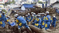 히로시마 산사태 사망·실종자 100명에