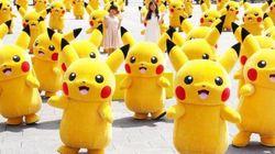요코하마에 나타난 50마리의 피카추(사진,