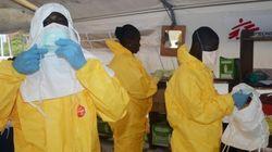'에볼라 공포'에 사로잡힌 서아프리카 주민들 : 의료진에 '새총' 쏘며