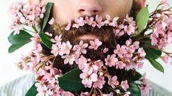 턱수염에 꽃을 꽂는 것이 새로운