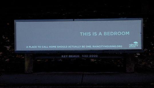 런던의 '노숙자 반대 철심'에 대한 밴쿠버의