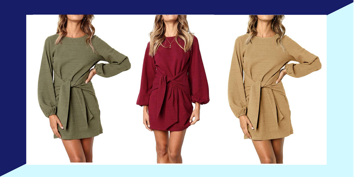 This sweater dress is perfect for the awkward summer-to-fall wardrobe season.