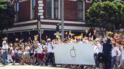 애플, LGBT 퍼레이드에 공식 참여하다