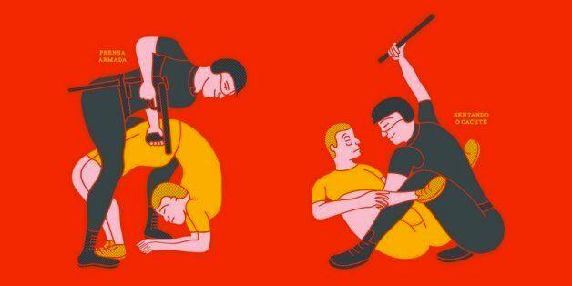 브라질 경찰의 과잉진압을 카마수트라처럼 표현한다면?