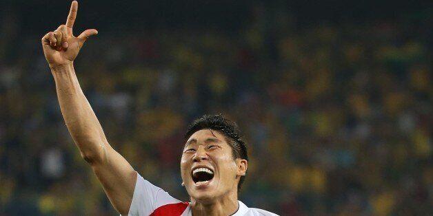 이지은 기자 = 2014 브라질 월드컵 조별리그 H조 1차전 한국과 러시아의 경기가 열린 18일 오전(한국시간) 브라질 쿠이아바 판타나우 경기장에서 후반전 이근호가 선제골을 넣고 기뻐하고...