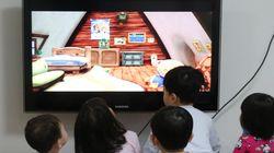 텔레비전 켜두면 아이 언어발달에 문제