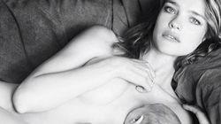 러시아 출신 톱 모델이 전라의 사진을 인스타그램에 올린