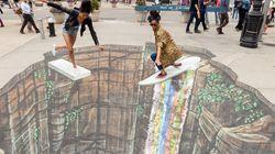 11개의 놀라운 3D 초크아트(3D Chalk Art) 그림들 (사진,