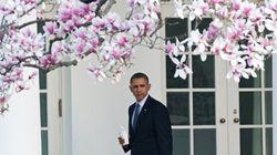 오바마 대통령이 단원고에 목련 묘목을 전달한