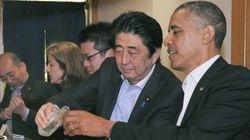오바마와 아베, 멸종위기 참다랑어 스시