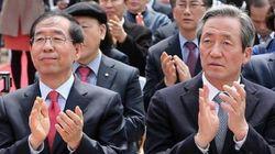 서울시장 여론조사 박원순 정몽준과 격차