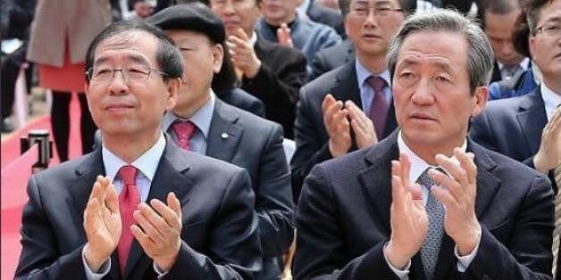 서울시장 여론조사 박원순, 정몽준과 격차