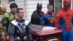 슈퍼히어로를 사랑했던 아이의 장례식(사진,