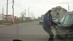 러시아인이 음주운전자를 처단하는
