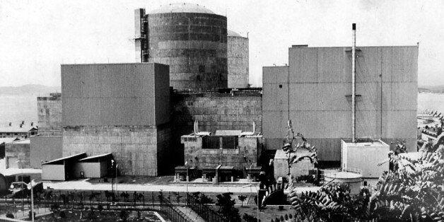 국내 최초의 원자력발전소 고리 1호기를 포함, 4기가 가동중인 고리 원자력 단지.(1988년 12월 27일, 한겨레