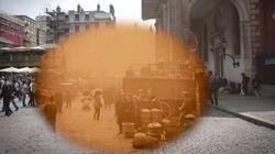 1924년과 2014년의 런던을 하나의 영상에