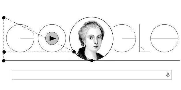 구글이 16일 이탈리아의 수학자 마리아 가에타 아녜시의 탄생 296주년을 기념하는 초기화면을