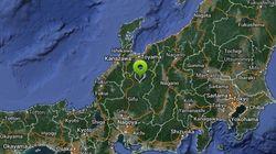 일본 기후현 나가노 현 지진