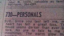 이 신문 개인광고는 당신을 울릴거다.....마지막 문장을 읽기