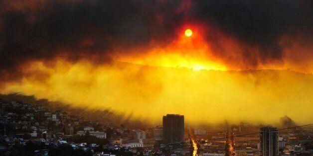 칠레 북부 항구도시 발파라이소의 화재