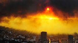 칠레 대형화재 11명 사망 1만 명