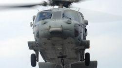 침몰 당시 구조하러 온 미군 헬기, 우리 군이