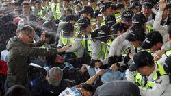 장애인의 날, 경찰은 최루액을