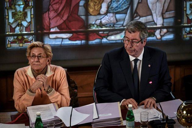 Isabelle Balkany, ici en photo à la maire de Levallois-Perret le 15 avril 2019, a rendu visite à son...