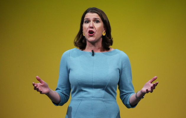 Liberal Democrat leader Jo Swinson at the party's conference, where the Lib Dems decided to revoke Article...
