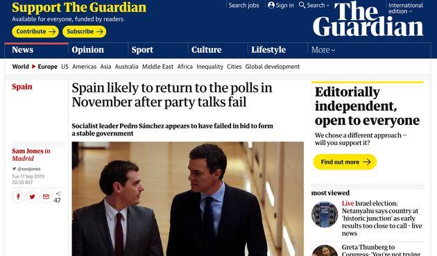 Información de 'The Guardian' sobre el fracaso de las negociaciones en