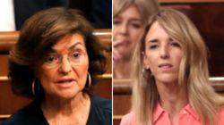 El encontronazo entre Carmen Calvo y Álvarez de Toledo en plena sesión de control: