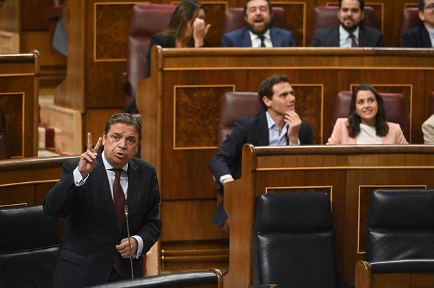 El ministro de Agricultura, Pesca y Alimentación en funciones, Luis Planas, interviene en la segunda...